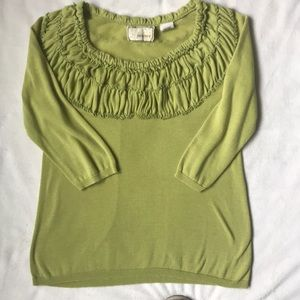 Anthropologie Green Sweater